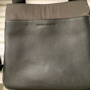 Emporio Armani hammered leather cross body bag